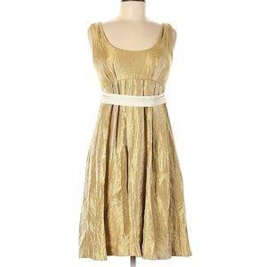Vera Wang Gold Cocktail Dress